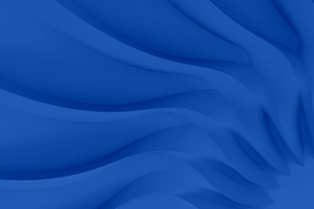 Modern realistic abstract parametric three-dimensional background of a set of wavy swirling