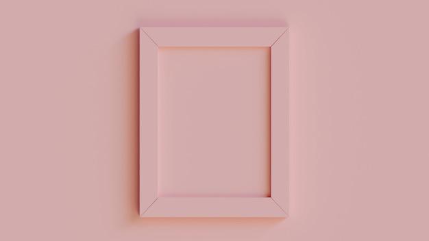 写真の壁のモダンなリアルなピンクフレーム