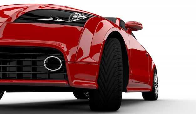 Modern red car