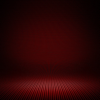 Modern red carbon fiber textured interior studio with light for background