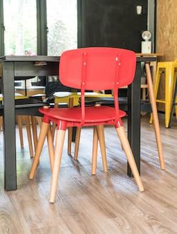 Modern red chair interior decoration