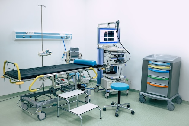 Modern room in a hospital or private clinic endoscopy of gastroenterology
