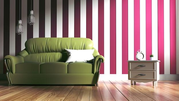 Современный интерьер комнаты. 3d рендеринг