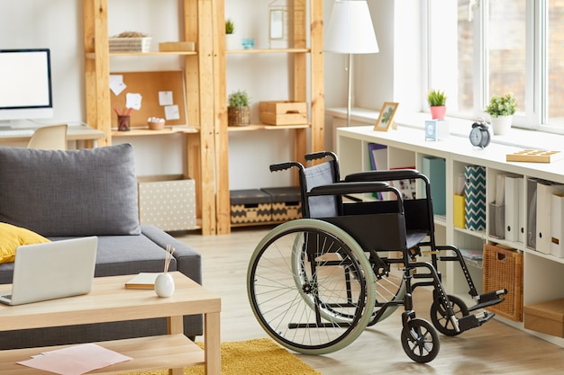 Modern room with wheelchair