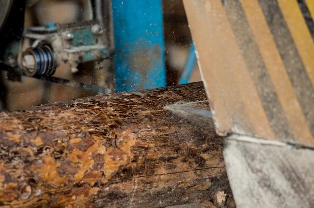 Современная лесопилка. промышленность пиления из бревен