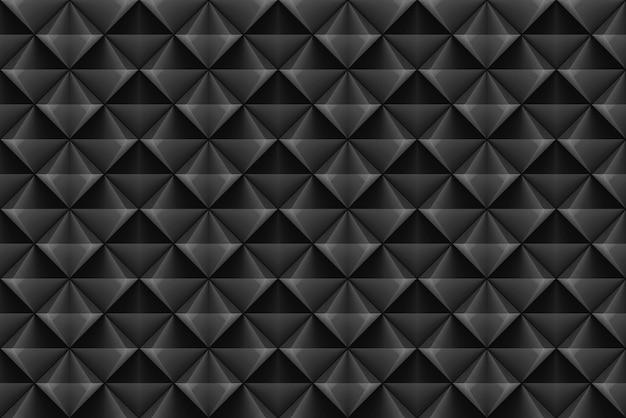 Modern seamless dark square grid pattern wall background.
