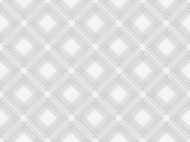 モダンシームレスの四角形のラインパターンの壁の背景。