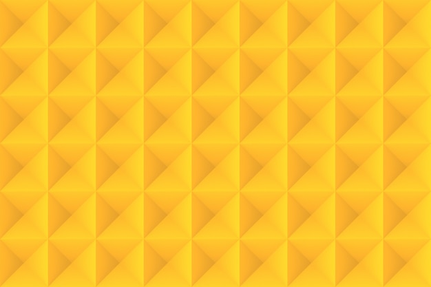 Modern seamless yellow color tone square grid tile pattern  wall background.