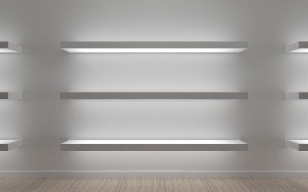 Modern shelves for store goods , boutique, shopping