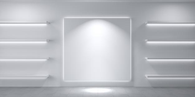 Modern shelves for store goods