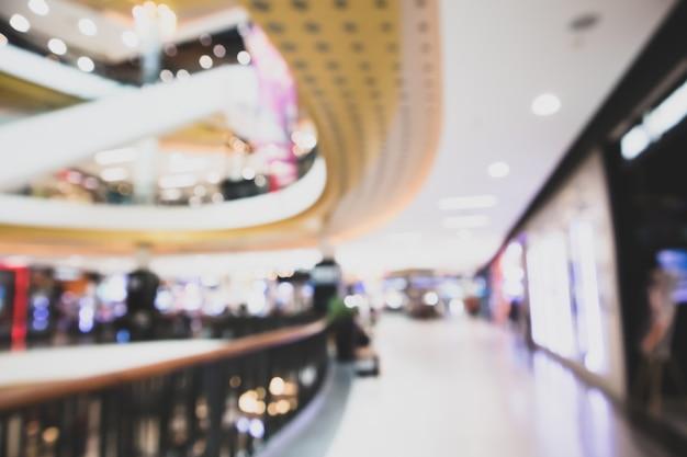현대 쇼핑몰 defocused 배경