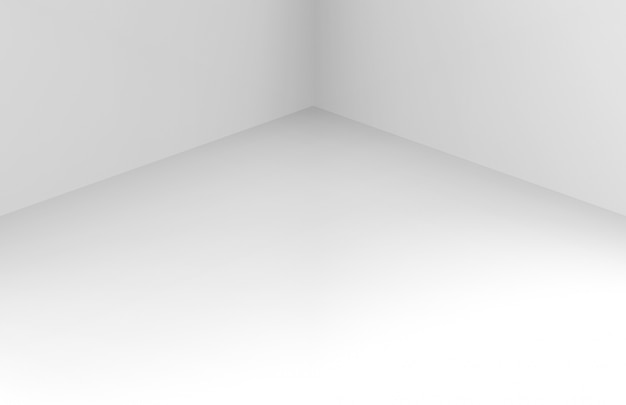 Modern simple minimal white corner room box wall