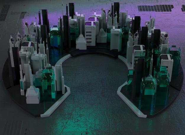 現代の都市の3dイラストレンダリング