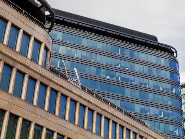 Modern skyscraper glass building in the city