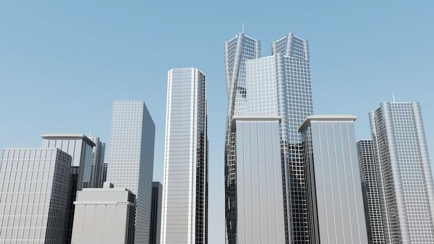 金融街にある近代的な超高層ビル
