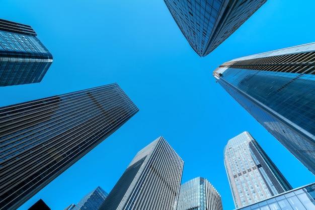 비즈니스 지구, 구이 양, 중국에있는 현대적인 고층 빌딩.