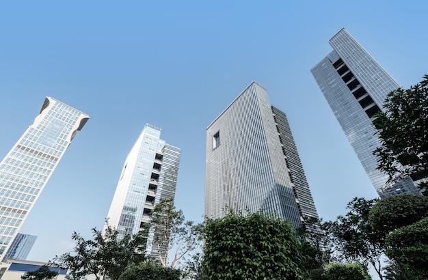 비즈니스 지구, 샤먼, 중국에있는 현대적인 고층 빌딩.