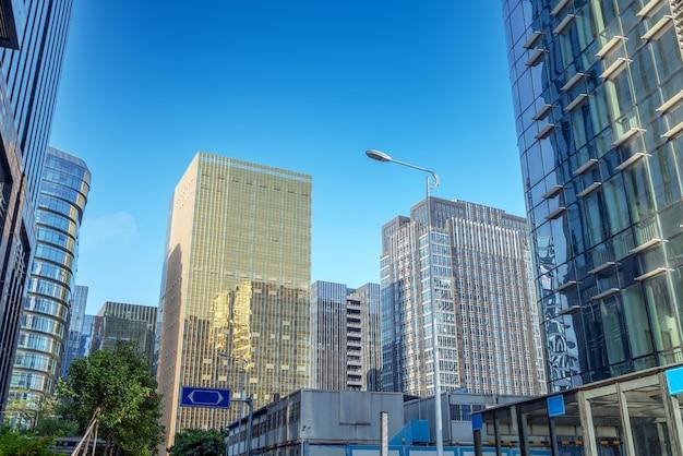 ビジネス地区、 x x x門、中国の近代的な高層ビル。