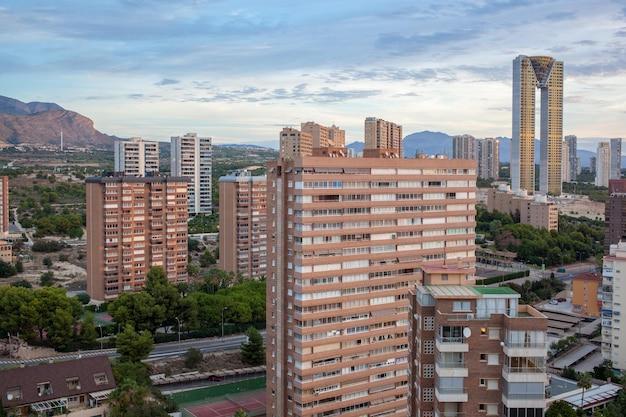 Benidorm, 스페인의 현대적인 고층 빌딩