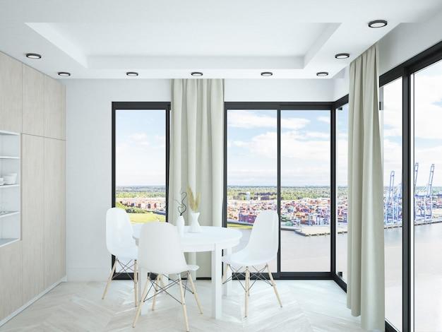 Современная небольшая квартира-комната с окнами