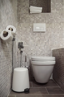 Modern small bathroom with toilet