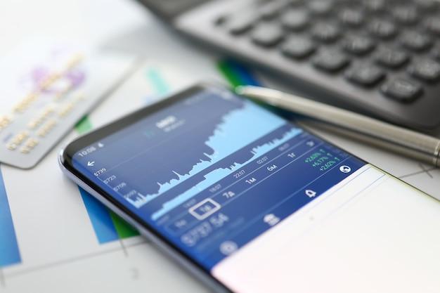 Modern smartphone on table