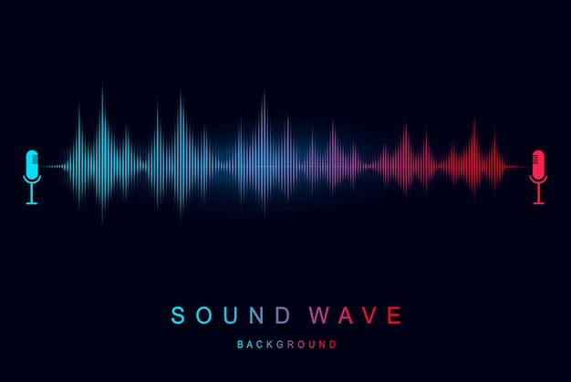 現代の音波イコライザーサウンドの視覚化と未来的な要素の音楽とラジオのコンセプト