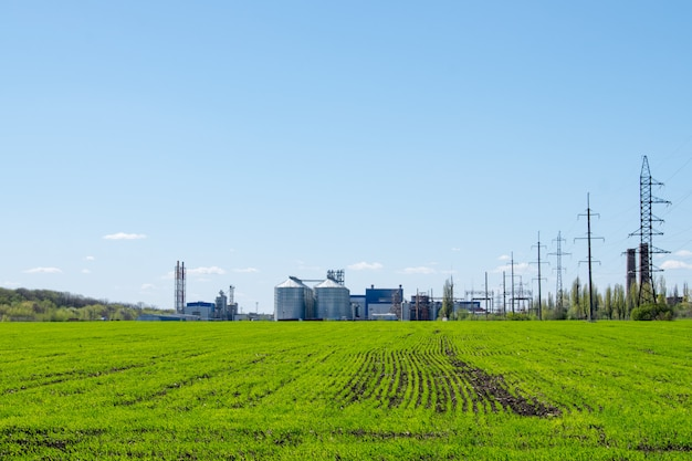 Modern soybean processing plant