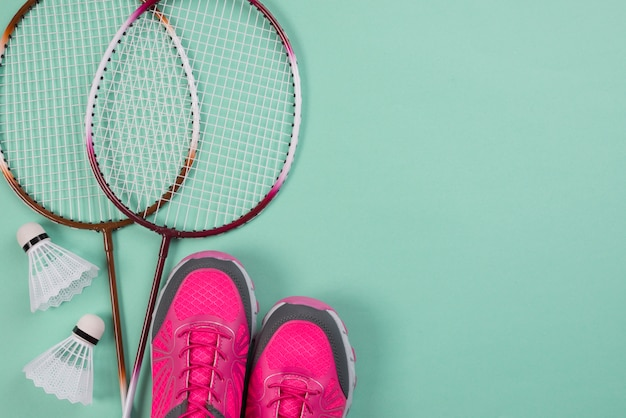 Modern sport composition with badminton elements