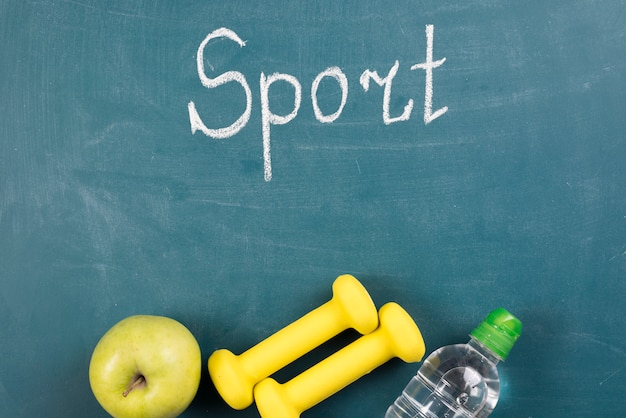 Modern sport composition with gym elements