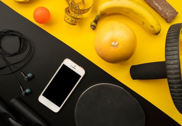 Современная спортивная композиция с элементами пинг-понга Бесплатные Фотографии