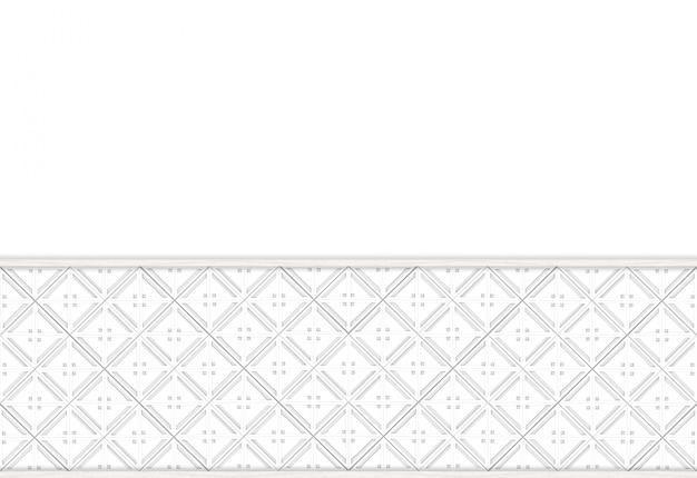 Modern square grid tile pattern on white wall