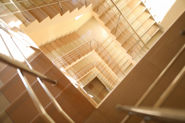 Modern staircase in building