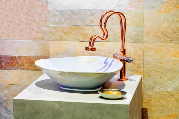 Modern style interior design of a sink