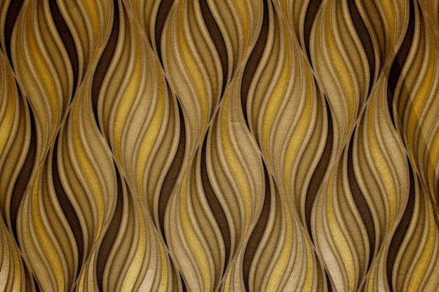 Modern and stylish abstract design poster with golden lines and black geometric pattern