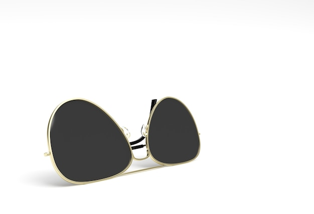 Modern sunglasses. 3d render illustration