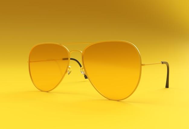 Современные солнцезащитные очки. 3d визуализация иллюстрации