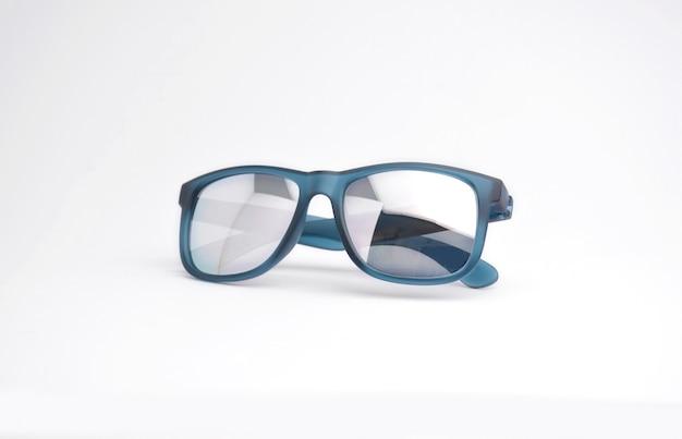 Modern sunglasses blue color