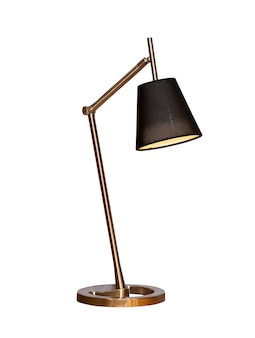 Modern table lamp isolated on white.