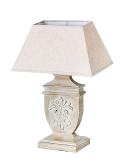 Modern table lamp isolated on white