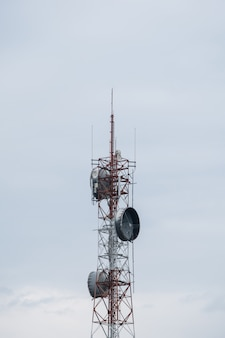Modern telecommunication tower.