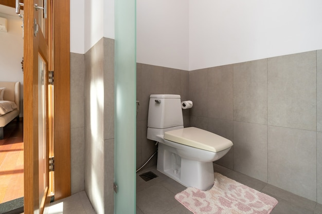 Современный туалет в элитном доме
