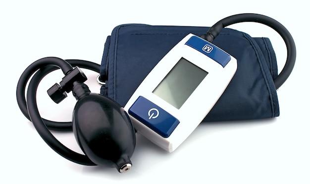 白い背景で隔離された現代の眼圧計