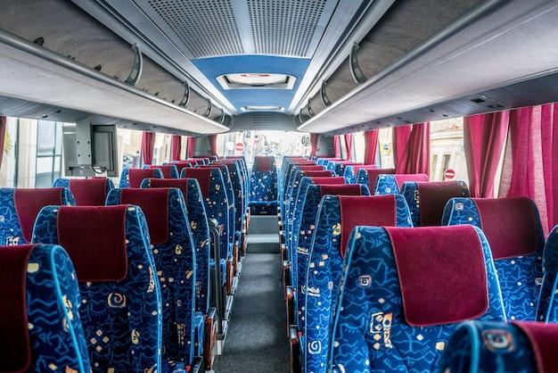 Modern travel bus in france