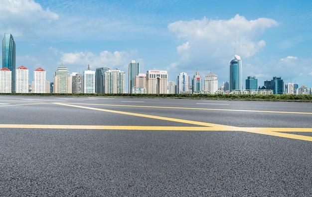 Modern urban architectural landscape of qingdao, china