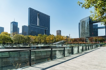 Modern urban architecture, Financial Center Plaza in Hangzhou, China
