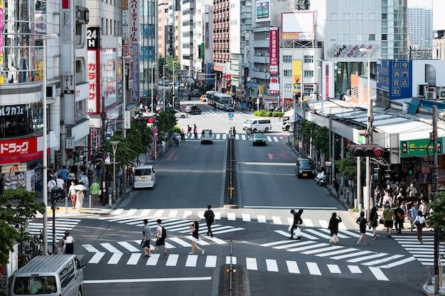Современный городской вид на центр города