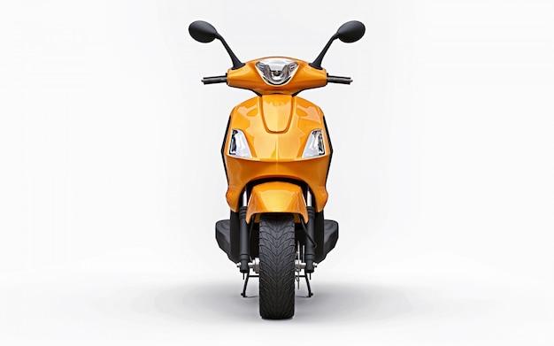 Modern urban orange moped