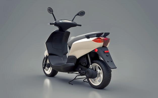 Modern urban white moped