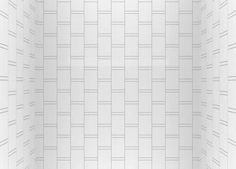 Modern vertical brick blocks room wall corner background.
